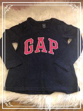 Donker Blauwe trui met roze letters van het merk Gap maat - 98