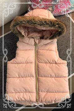 Poeder roze bodywarmer van de H&M - maat 68