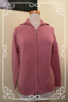 Nieuw: Mooi oud roze vest met rits Maat M
