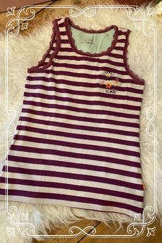 Paars/wit gestreept hemd - Maat 134