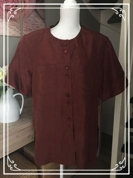 Donker rode blouse van Q-line - Maat 40