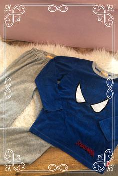 Stoere blauwe Spiderman pyjama - Maat 134-140
