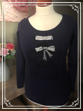 Donkerblauw lange mouwen shirt met print van Prènatal - Maat S
