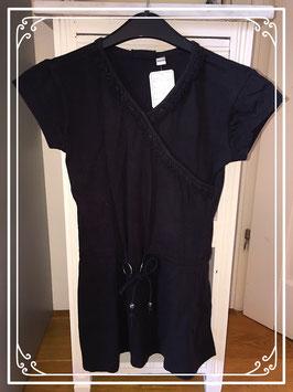 Zwart lang T-shirt jurkje Persival - maat 140