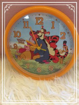 Oranje Winnie the Pooh klok