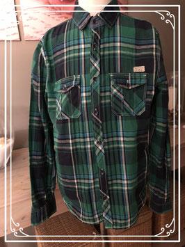 Groen geruite blouse van de H&M - Maat 170