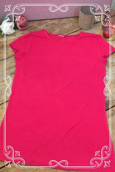 Roze korte mouwenshirt - Maat 146