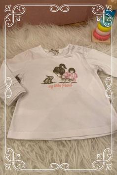 Mooi wit shirtje met schattige print van Kanz - Maat 62