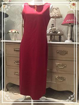 Twee jurken in één in oranje en bordeaux - maat 42
