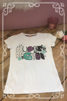 Wit shirt met opdruk super girl van JILL-maat 128