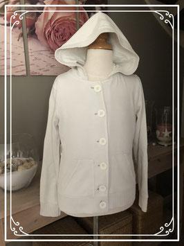 Wit vest met capuchon - maat 152