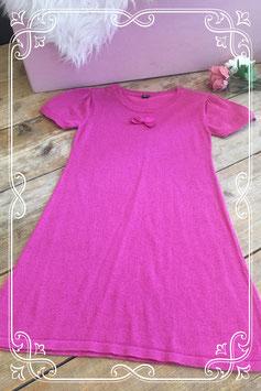Roze glitterjurkje met strik van SOHO - Maat 134