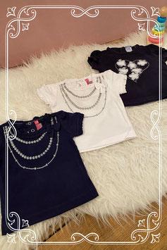 Setje van drie mooie T-shirtjes - KNOT SO BAD en DIRKJE - Maat 62