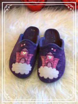 Meisjes pantoffel met kasteel print - maat 30