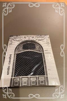 Nieuw: Zwarte panty met chique motief van Emilio Cavallini Maat L