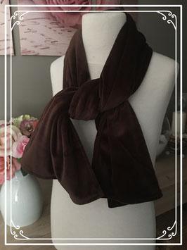 Nieuw: Velours bruine sjaal