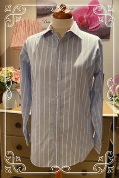Blauw met witte blouse van Hema maat 41/42
