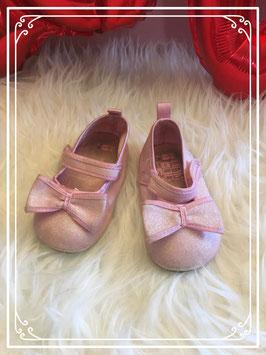 Mini roze glitter ballerina's maatje 21