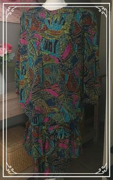 Kleurrijke jurk met uniek patroon van C&A - Maat 44