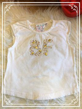 Witte T-shirtje van Barbara Farber - maat 98