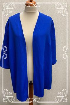 Mooi blauw loshangend vest van Collection Chalice in maat 50