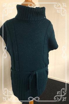Blauwe trui met korte mouwen maat S