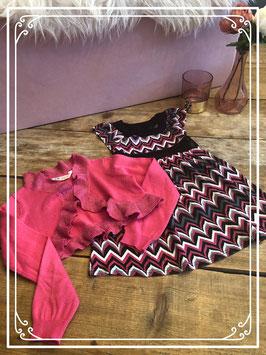 Mooi jurkje van Sweet Millie maatje 104 met bijpassende bolero van H&M maatje 98-104