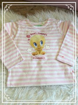 Roze-wit gestreept shirt van Looney Tunes - maat 92
