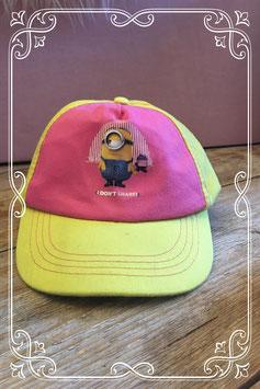 Roze/gele pet van Minions - voor 5-8 jaar