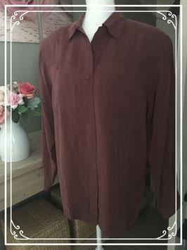 Bordeaux rode blouse van de Bijenkorf - Maat 40