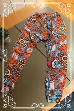 Vrolijke gekleurde broek van Moksha maat S/M