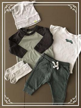Setje grijs-groen H&M en hema maat 56