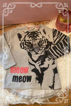 Grijs tijger shirt van de H&M - Maat 122/128