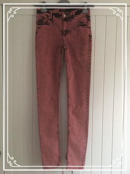 Roze-zwarte lange broek van Modstrom - maat XS