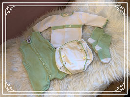 Groen/witte kledingset (4 STUKS) - Maat 50
