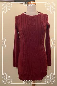 Nieuw! Lange bordeaux rode trui van Esmara maat S