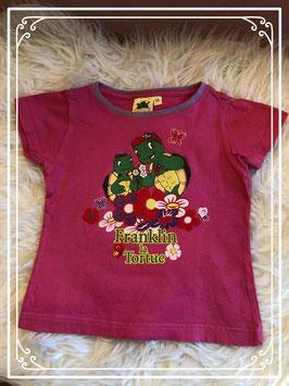 Roze T-shirt met Franklin de schildpad voorop - Maat 98