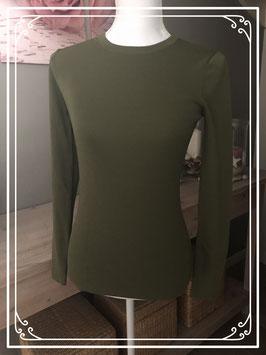 Leger groen Basic longsleeve merk Nikkie - maat S