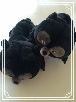 Nieuwe zwarte beren pantoffeltjes van Disney - maat 24-26
