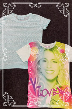 2 leuke shirts van Young Dimension en Disney's Violetta maat 146/152