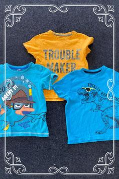 3 leuke t-shirts van o.a. Primark en Disney's Phineas & Ferb maat 110