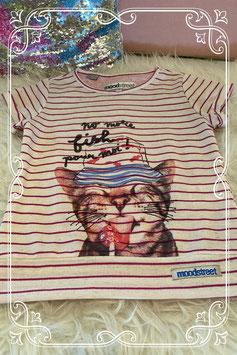 Leuk shirt met kat van Moodstreet maat 98