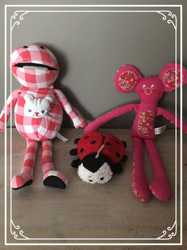 Rood setje van 3 knuffels