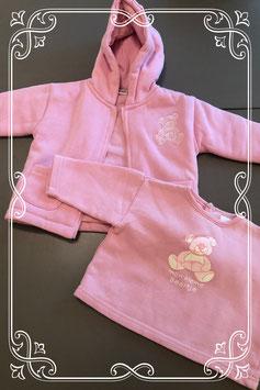 Roze shirtje en vestje van Prenatal maat 68
