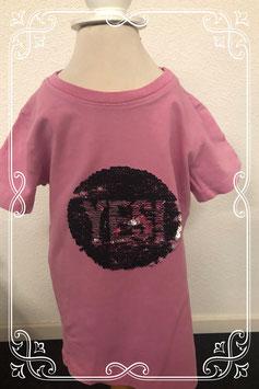 Leuk roze shirt met pailletten van Blue Seven maat 122