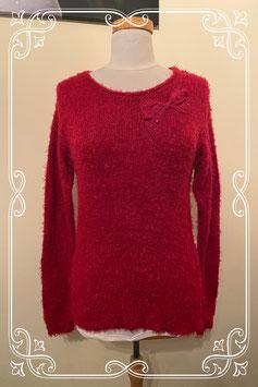 Nieuw! Rode fluffy trui van C&A maat S