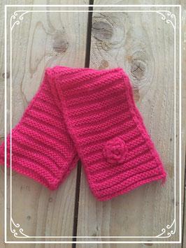 Roze dikke sjaal voor meisjes van 2-3 jaar