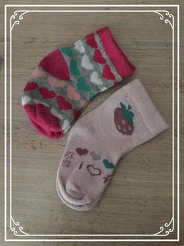 Sokjes met printje - Maat 62-68