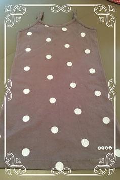 grijs jurkje met witte stippen van JILL - maat 92/98