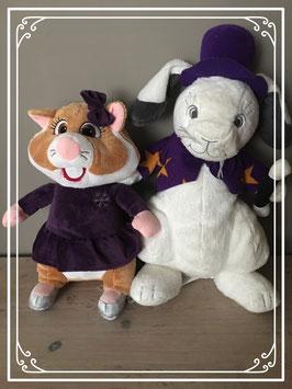 Knuffel toverduo konijn en cavia